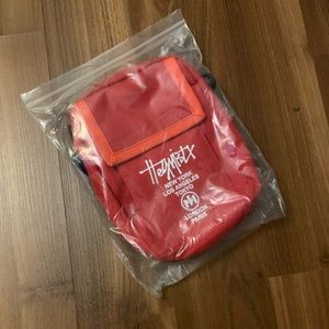 Red chest bag